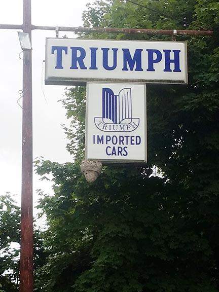 Photo of a Triumph Dealership sign